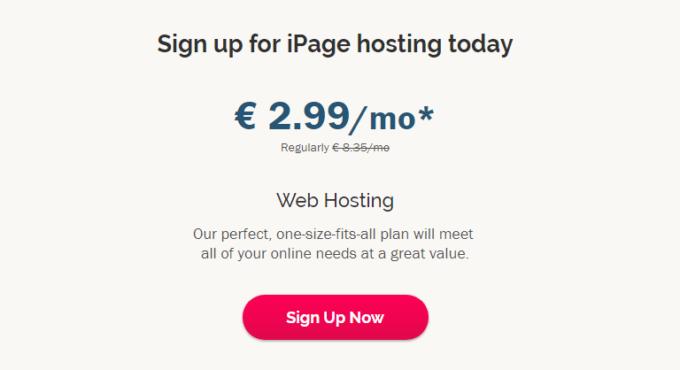 ipage-tabela-preços-alojamento-partilhado
