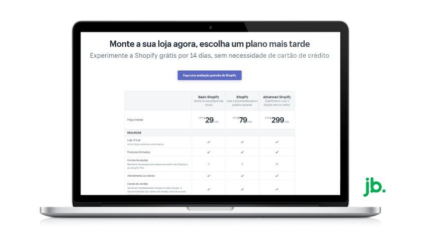planos de preços shopify - joaobotas.pt