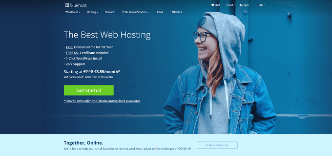 site bluehost