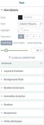 Opções de estilo do elemento no thrive architect - joaobotas.pt