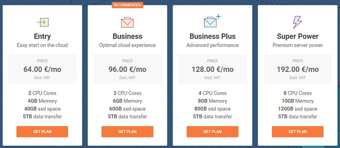 preços alojamento cloud siteground