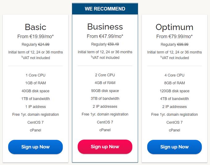 preços alojamento vps ipage