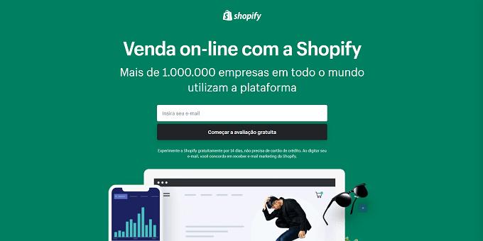 Digite seu endereço de email - shopify