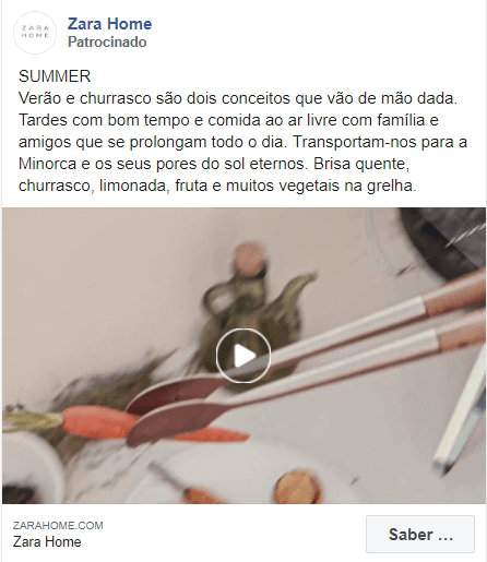 anuncio zara home facebook ads