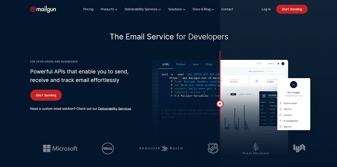 site do mailgun