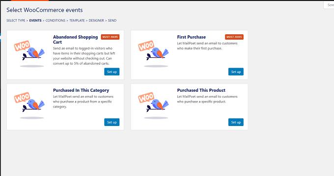 Integração com WooCommerce no mailpoet 2