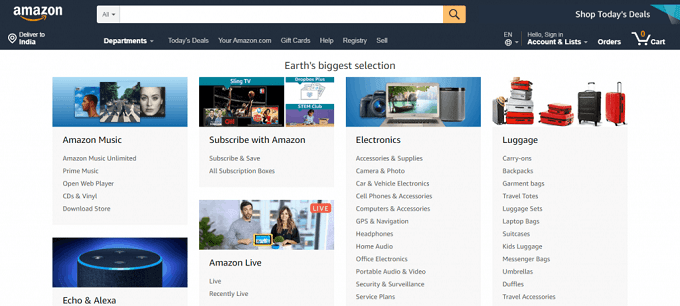Ofertas de afiliados da Amazon