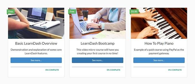 Recursos do LearnDash