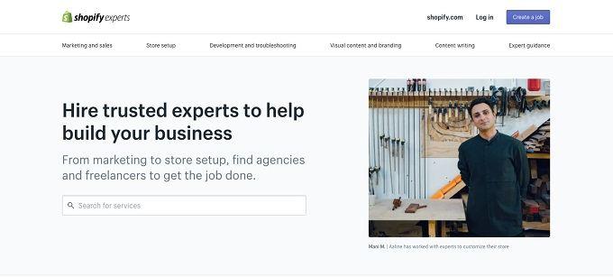 Shopify Experts Marketplace