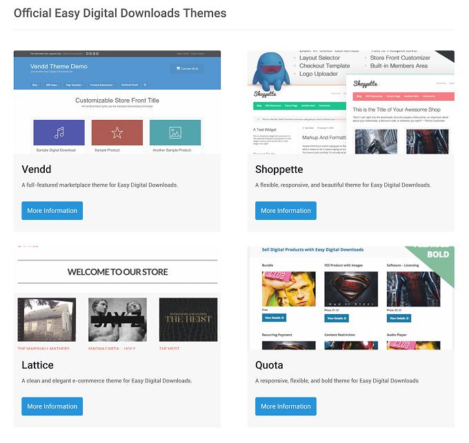 designs gratuitos oferecidos pelo Easy Digital Downloads