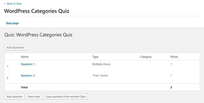 perguntas de questionário learndash