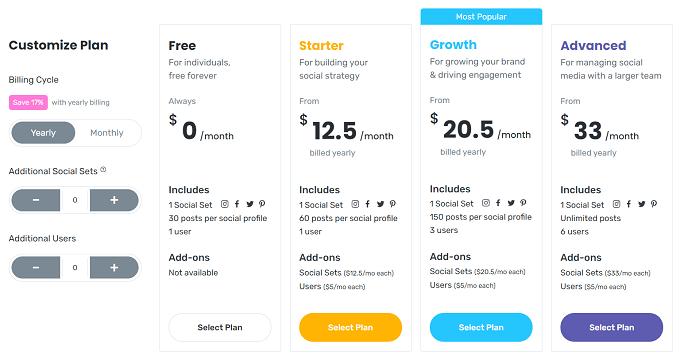 planos preços later