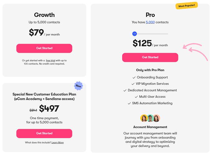 planos preços sendlane