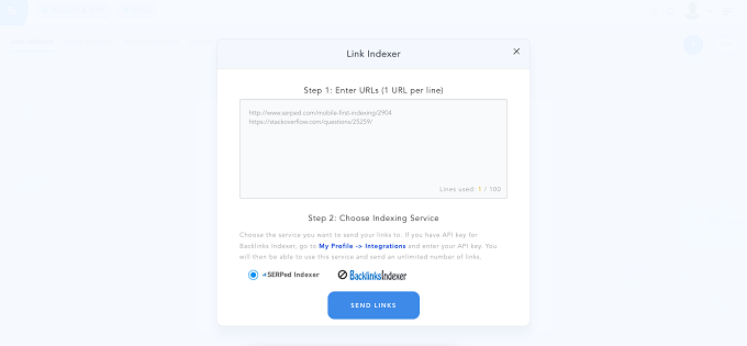 serped - Indexador de links