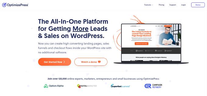 site do OptimizePress