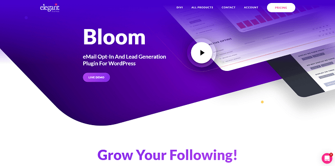site do bloom elegant themes