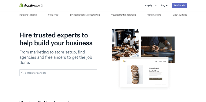 site do shopify experts