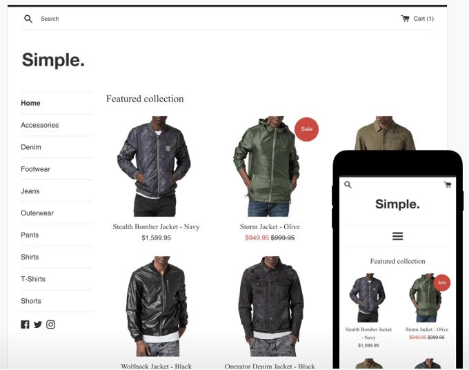 tema shopify simple