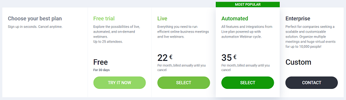 planos preços clickmeeting