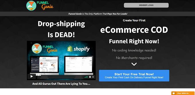 site do Funnel Genie